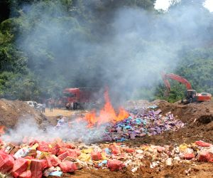 CHINA YUNNAN SMUGGLED FROZEN MEAT DESTROY
