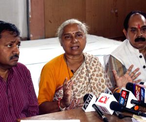 Medha Patkar's press conference