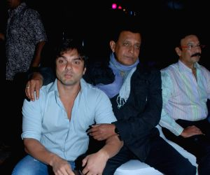 Sohail Khan and Mithun Chakraborty bond at Cintaa Superstars Ka Jalwa launch, JW Marriott in Mumbai on Monday afternoon.