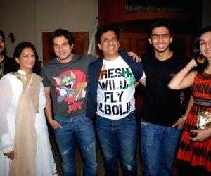 Sohail Khan at Daboo Mallik's bash at Marimba Lounge, in Mumbai.