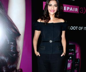 Sonam Kapoor at Loreal Anti-Hairfall Shampoo Launch