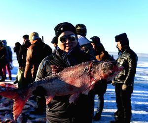 CHINA-JILIN-CHAGAN LAKE-WINTER FISHING