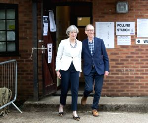 BRITAIN SONNING GENERAL ELECTION THERESA MAY