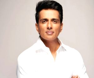Actor Sonu Sood tries his hands at tailoring