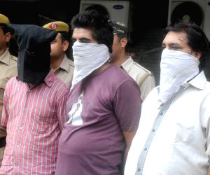South Dist Delhi Police arrested three snatcher in New Delhi on July 7, 2013. (Photo: IANS)