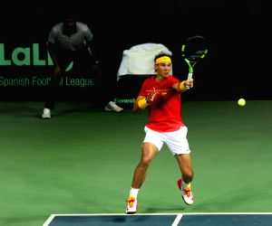 Davis Cup - Marc Lopez and Rafael Nadal vs Leander Paes and Saketh Myneni