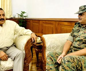 Special DG, North Zone, Central Reserved Police Force (CRPF), Zulfiqar Hasan calls on Union MoS (I/C) Development of North Eastern Region (DoNER), PMO, Personnel, Public Grievances and ...
