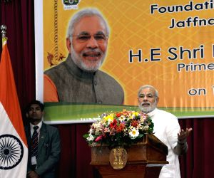 Sri Lanka: Modi lays the foundation stone of Jaffna Cultural Centre