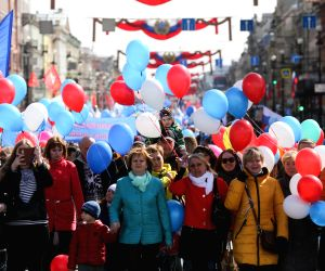 RUSSIA-ST. PETERSBURG-INTERNATIONAL WORKERS' DAY-MARCH