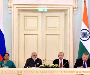 St. Petersburg: Modi-Putin at India-Russia CEO's meeting