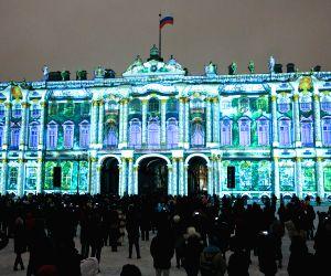 RUSSIA-ST. PETERSBURG-LIGHT SHOW