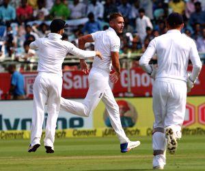 Ind Vs Eng Day 1- Stuart Broad celebrates wicket of KL Rahul