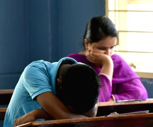 Students appear for CET Exam