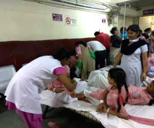 Students hospitalised due to gas leak