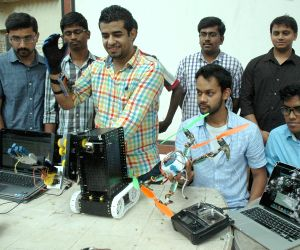 Students display their robots