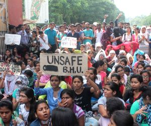BHU student's protest