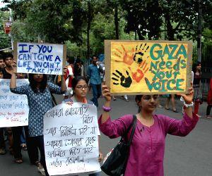 JU students demonstrate against Israeli attacks on Gaza