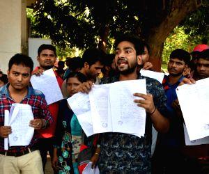 Nalanda University students' demonstration