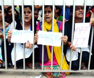 Patna Women's College students protest sexual harassment