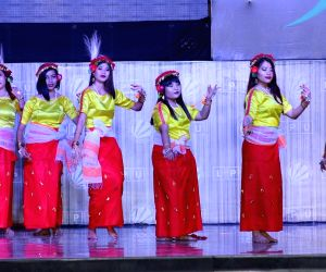 Students perform during 'One India-2018' - a fest organised by a Punjab university in Jalandhar on March 23, 2018.