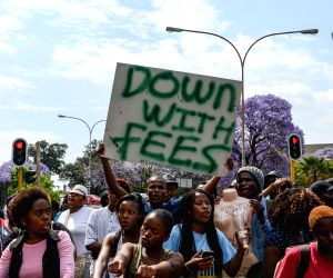 SOUTH AFRICA JOHANNESBURG TUITION FEE INCREASE PROTEST