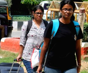 Students return back to Banaras Hindu University (BHU) in Varanasi, on Oct 3, 2017. On September 23 night, a protest by female students outside the Vice Chancellor's office against ...