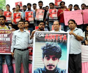 Students' demonstration to demand justice for Aditya Sachdeva