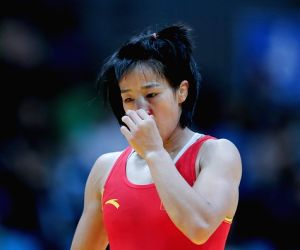 Sun Yanan of Haryana Hammers, who is set to clash with Vinesh of UP Dangal on 23rd Jan, in New Delhi.