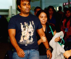 Sunil James arrives at Chhatrapati Shivaji International Airport