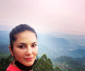 Sunny Leone goes for morning hike in Kerala