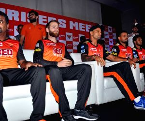 Sunrisers Hyderabad players during a promotional programme