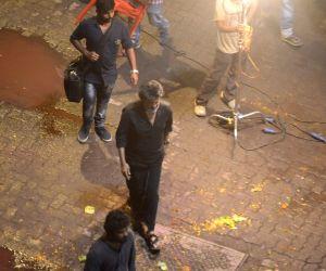Rajinikanth during Shooting of Tamil gangster drama