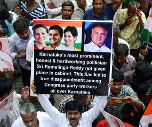 Roshan Baig, Ramalinga Reddy's supporters' demonstration