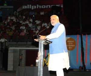 Sydney (Australia): PM Modi addresses at Allphones Arena