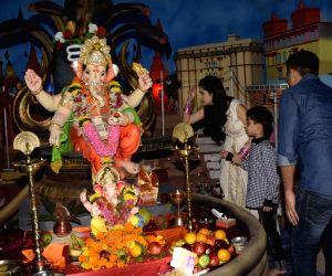 "Bhushan Kumar, Divya Khosla Kumar and Ruhaan Kumar  perform rituals on the occasion of ""Ganesh Chaturthi"