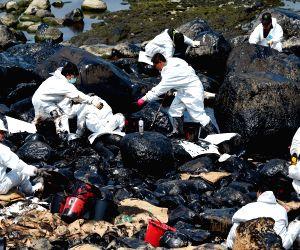 CHINA TAIWAN NEW TAIPEI CITY STRANDED VESSEL POLLUTION