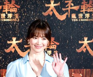 Taipei: Director John Woo of Hong Kong attends the premiere of his movie The Crossing I