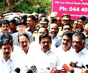 Tamil Nadu CM E K Palaniswami and deputy CM O Panneerselvam at hospital