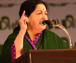 J Jayalalithaa at a function
