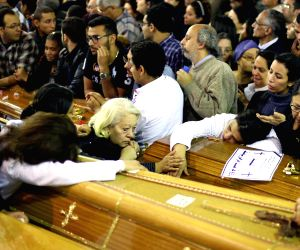 EGYPT TANTA CHURCH BLAST FUNERAL