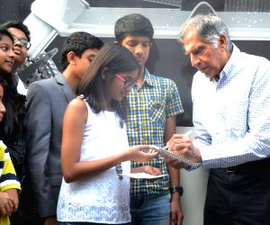 "Ratan Tata at the launch of ""Moonshot Wheels"