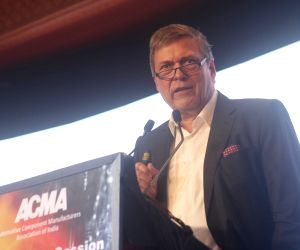 Tata Motors CEO and Managing Director Guenter Butschek addresses at the 58th annual session of Automotive Component Manufacturers Association of India (ACMA), in New Delhi on Sept 5, 2018.