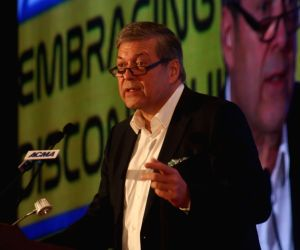 Tata Motors CEO Guenter Butschek addresses during the 59th Annual Session of Automotive Component Manufacturers Association of India (ACMA) in New Delhi on Sep 6, 2019.