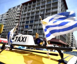 URUGUAY MONTEVIDEO TAXI DRIVERS DEMONSTRATION