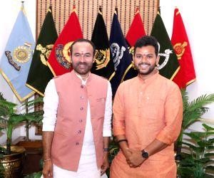 TDP MP from Srikakulam, Mohan Naidu meets Union MoS Home Affairs G. Kishan Reddy, in New Delhi on July 17, 2019.
