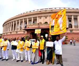 Parliament - TDP MPs' demonstration