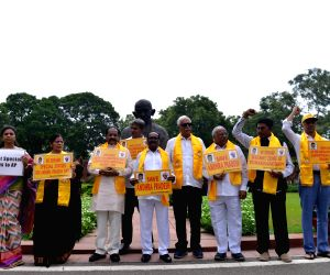 TDP MPs protest at Parliament