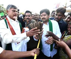 TDP's protest against 3-capital proposal for Andhra