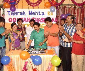 Team celebrate eight years of Taarak Mehta Ka Ooltah Chashmah in Mumbai on July 27, 2015.