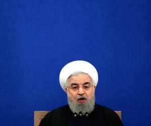 IRAN TEHRAN ROUHANI PRESS CONFERENCE